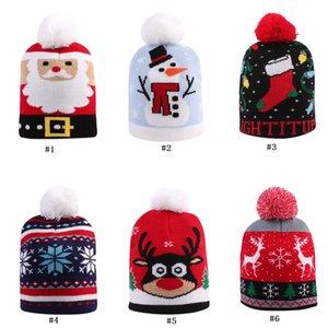 Natale delle neonate Boy Knit Hat bambino sveglio caldo Crochet Designer Babbo Natale del pupazzo di neve a maglia teschio Beanie dei bambini della protezione cappelli D91004