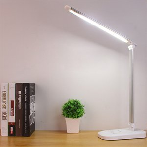 HT-336 LED Foldable Rotatable Eye Protect Stepless Dimming Foldable Touch-Sensitive Controller USB Charging Table Lamp