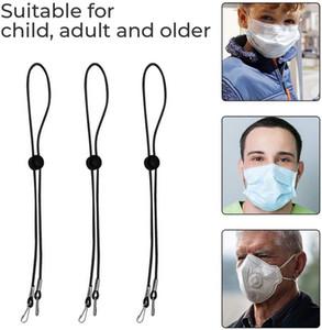Extension de longueur réglable de lanière de masque de visage avec masque de crochet en métal Porte-chaîne de chaîne de suspension Bandanas Économiseur d'oreille pour adulte enfant GWC2339