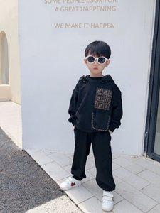 2020 가을 의류 정장 아동 아기 소년 소녀 후드 티 셔츠 탑은 + 바지 의상 세트 운동복 스포츠 아동 의류