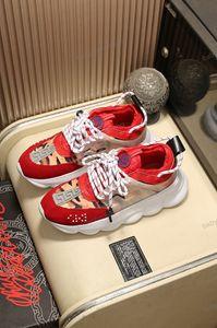 Versace shoes Italiana Croix Chainer 2 Chaussures Homme las zapatillas de deporte 2020 Porte-Designer Blanc Rouge impresión épais Bas extérieur Zapatos Casual Taille