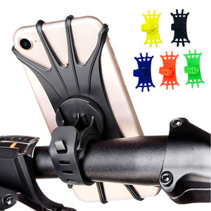Silicone Bike Phone Holder Motorcycle Bicycle Mobile CellPhone Stand Handlebar Clip Holder