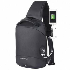 Designer-2020 New Fashion Commuting Mens Chest Bag USB Charging Fashion Mens Shoulder Messenger Bag Leisure Anti Theft Wallet DdRb#