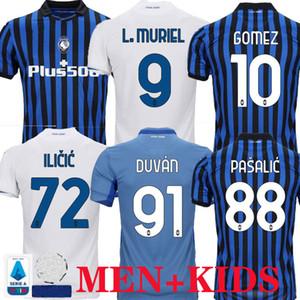 Atalanta de Futebol 20 21 GOMEZ L.MURIEL Iličić 2020 2021 Pasalic shirt do futebol nova casa longe TERCEIRO MEN KIDS KIT DE ROON DUVAN uniforme