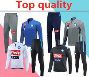 2020 Napoli chándal Hamsik Insigne Callejón Zielinski 2020 2021 SSC Nápoles conjunto de chaqueta de cremallera larga chándal chándal de fútbol 2018-2019