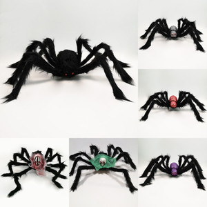 HOT Хэллоуин украшения паук Призрачный Фестиваль партии продуктов Террор моделирования череп головы плюша паук Голова Призрака паук T500217