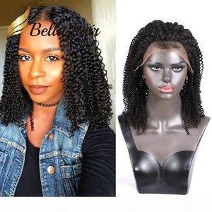 100% Indian Human Hair Lace Wig Afro Kinky Curl Full Lace Wigs Lace Front Wigs Free Shipping Bella Hair