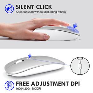 Ordinateur de souris sans fil Bluetooth Mouse Maison silencieuse Maison ergonomique rechargeable Souris optique USB 2.4GHz pour ordinateur portable MacBook PC