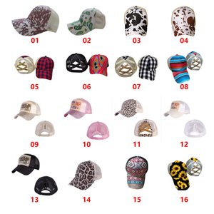 Baseball Caps Ponytail Criss Cross Messy Bun Hats Cotton Trucker Caps Summer Snapback Hat Sport Hip Hop Party Hats Outdoor Sun Cap OOA9140-1