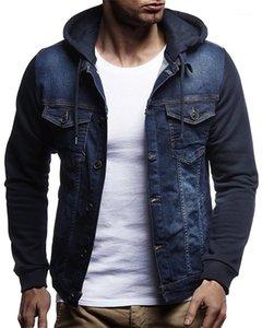 Denim Ceket Moda Uzun Kollu Lüks Sonbahar Coats Casual Erkek İnce Jeans Dış Giyim Kasetli Mens Tasarımcısı