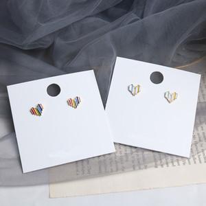 Earring Piercing Party Womans Stud Creative Design Fashion Charms Ladies Loving Heart Girls Colorful Vintage Zinc Alloy Kolczyki