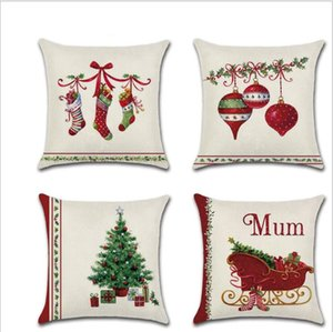 New Pillow Cases Covers Chirstmas Pillowcases Xmas Tree Bell Print Pillowslip Home Sofa Pillow Case Xmas Decorations Gifts AAB1160