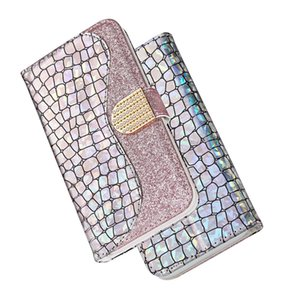 Leather Flip Wallet Case Bling Glitter Cover for Samsung Galaxy S20 Note20 Ultra Phone Holster Cases Full Cover For iphone 12 pro max XR XS