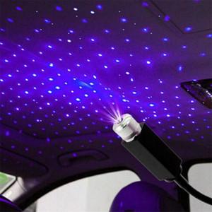 Tetto dell'auto stella Interni Luce stellata del laser LED Atmosfera proiettore ambiente USB auto della decorazione di notte la casa Galaxy Luci Decor