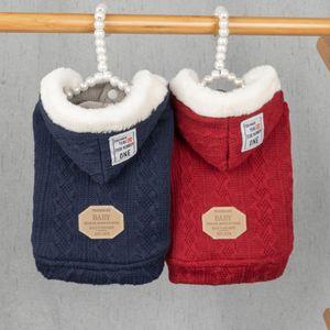 Animaux Automne / Hiver Manteau à capuche Pull euroaméricains Fashion Style Polyester Coton Durable Keep Warm Cat Dog temps froid Tissu