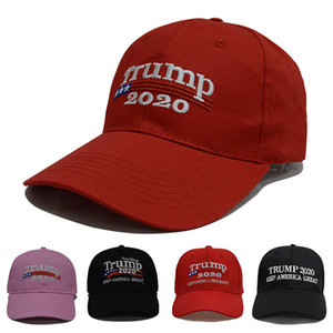 Nueva Donald Trump 2020 casquillo casquillos EE.UU. Béisbol Keep America gran presidente del Snapback del sombrero 3D bordado bordados envío libre de DHL