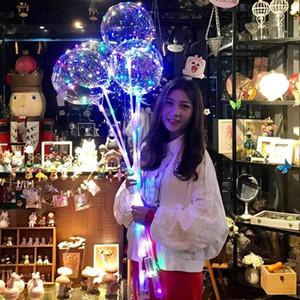 Partido globo globos Cadena Globo Bobo LED con 31.5inch palillo de 3M luz LED de Navidad del cumpleaños de Halloween Decoración Bobo DHL globos