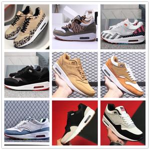 2020 Arrivée Atmos travail Blanc Femmes Hommes Chaussures de course 87s 87 Formateurs OG anniversaire des animaux Leopard Parra pack Sport 1 max Sneakers 36-45