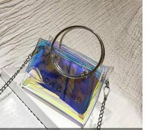 Super Feuer Jelly Transparent Kleine Tasche weiblich 2020 Sommer New Tide Ring Wilde Fee Messenger-Ketten-Beutel