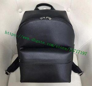 Grau Top Fashion Designer Sólidos couro preto Taiga Men Backpack Apollo Genuine bezerro Pacote Tamanho Grande frete grátis