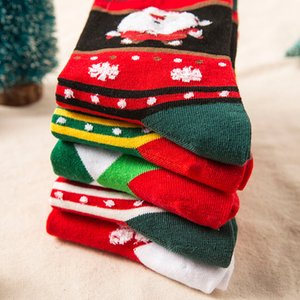 Natale Decorazioni di Natale calzini nuovi stili delle donne calzini autunno e l'inverno ispessite calzini delle donne pure del cotone vari stili