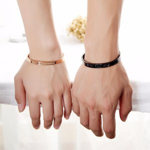 His and Hers Couple Bracelet Stainless Steel Adjustable for Women Men Girls Boys His Queen Her King GH922