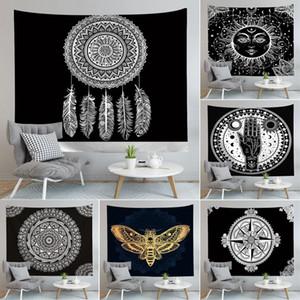 Mandala Tapestry Hippie Wall Hanging Flower Digital Impresso Bohemia Colcha Praia Mat Toalha Yoga Mat Blanket DHC1522
