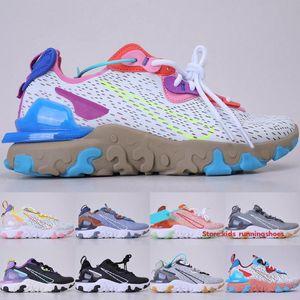 Fashion React Vision Men Women Running Shoes 2020 Mesh Laser Crimson Gravity Purple Volt Cool Grey Honeycomb Sports Sneakers Size 36-45