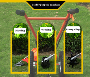 New Arrival Hand-push Lawn Mower Multi-function Loosener Weeder Four-stroke 140FA Agricultural Orchard Mower 1.0KW 6500r m 0.65L