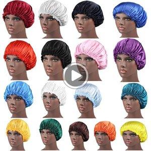 Марка Dener Durags мусульманской Женщина Шелковый сатин дышащий Бандан Night Спящей Тюрбан Hat Headwrap Bonnet Chemo Cap Durag волос Acssories