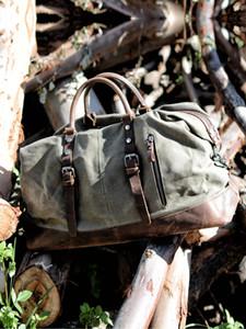 Pelle Muchuan Uomini M bagaglio a mano della tela di canapa borse da viaggio Duffel spalla di grande capienza Weekend Pernottamento 200921