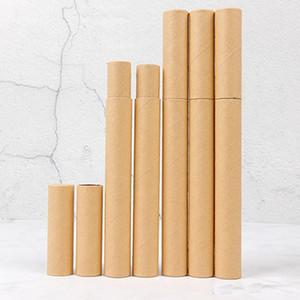 Black Kraft Paper Incense Tube Incense Barrel Small Storage Box for pencil Joss Stick Convenient Carrying 20.7x2.1cm
