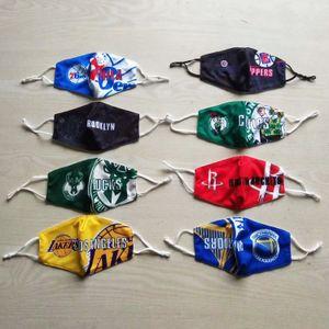 9colors Лейкерс Футбол СУВЕНИРЫ Национальная баскетбольная команда любителей футбола хлопка маски дышащая маска Открытый спорт моющийся многоразовый Face