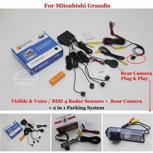 Liislee için Mitsubishi Grandis - Araba Park Sensörleri + Geri Görüş Kamerası = 2 1 Görsel / BIBI Alarm Park Sistemi 8U1w # da