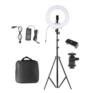 14 Inch LED Ring Light with 220CM Tripod 5500K Photography Dimmable Makeup Ring Lamp EU Plug