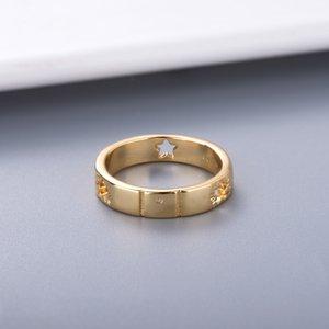 Style simple Couple personnalité Anneau pour les amoureux Bague Fashion Star Bague Argent Haute qualité bijoux en plaqué d'alimentation