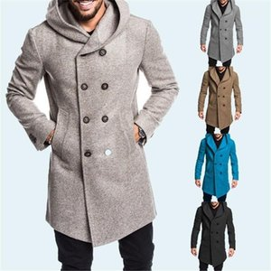 Long Coats Winter Mens Warm Fashion Outerwear Winter Mens Designer Coats Solid Color Long Sleeve Mens