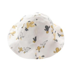 Spring and summer baby hat cute female baby visor child sunscreen fisherman hat