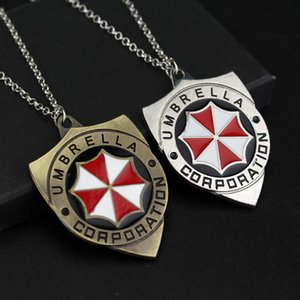 Cool Biohazard Resident Evil necklaces Pendants Link Chain Red Umbrella Pendant necklace for women men gifts movie jewelry