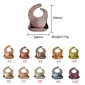 KOSTENLOSE DHL UPS Designer Baby Fütterung Burb Kleidung Lätzchen Ins Wasserdichtes Silikon 17 Farben Speichel Tuch