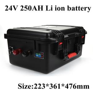 24V 250Ah lítio Li Ion Battery Pack com BMS para Armazenamento de Energia Marinha Lazer Yachts RV Autocaravanas campistas + Carregador 10A