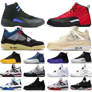 Nike Air Jordan 4 Retro I più nuovi scarpe da basket uomo OG allevati per 2019 Cactus Jack Houston Oilers bianco cemento Mens designer Trainer Sport Sneakers taglia