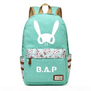 Designer-WISHOT KPOP B.A.P Best Absolute Perfect BAP Backpack flowers shoulder Travel Bag for teenagers girls women Canvas dot bag