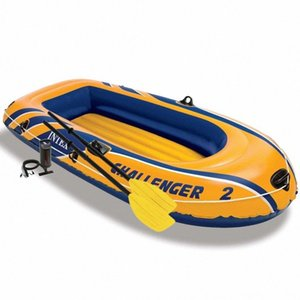 Intex Challenger 2 Set Inflatable boat with oars and Surfing Water Sports pump 68367NP Intex Challenger 2 Set Inflatable boat with oar R9oo#