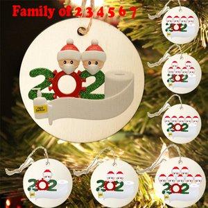 Cuarentena Máscaras personalizadas Survivor Familia 7 Decoración 3 4 5 Desinfectado de adornos personalizados 2 6 Face Christm Hand Creative Toys GW Mabu