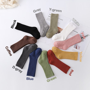 Candy 10 Colors INS New Baby Kids Socks Toddlers Ribbed Knitted Knee High Long Soft Cotton High Baby Socks Knee High Socks 0-12T