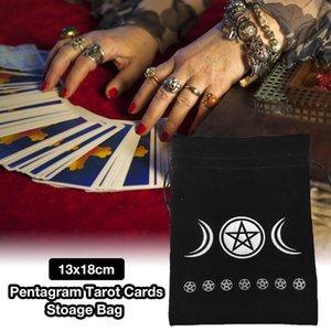 Tasche Tarot Samt Kordelzug Protective Kartenspiel Tasche Stickerei Brett Speicher-Mond-Stern-Muster 13x18cm Karten bbymJf lg2010