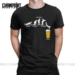Man Week Craft Beer T Shirts 100% Cotton Drunk Tee Alcohol Drinking Clothes Funny Humor Graphic Short Sleeve Big Size T-Shirt Y200611