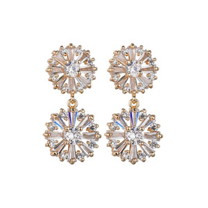 Fashion Hot Sale Bettyue Cubic Zircon White Needle Wholesale Jewelry Earrings For Woman Gothic Style Wedding Party Gifts
