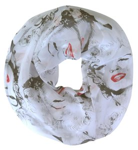 Sciarpa chiffon Marilyn Monroe stampa delle donne Infinity Loop ultrasottile
